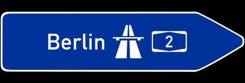 verkehrssignale autobahn  verkehrszeichen der