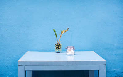 farben und wohnen - blau und blautöne als raumfarbe - Blaue Wand