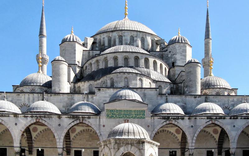 Blaue Mosche - ein Kuppelbau
