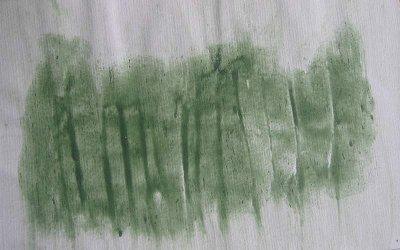 Farbprobe aus Weizenmehlfarbe